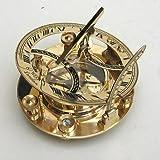 Brass Compass 5'' Sundial Compass - Marine Collectible Compass -nauticalmart
