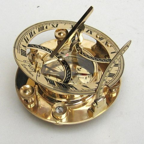 Brass Compass 5'' Sundial Compass - Marine Collectible Compass -nauticalmart by Ectoria