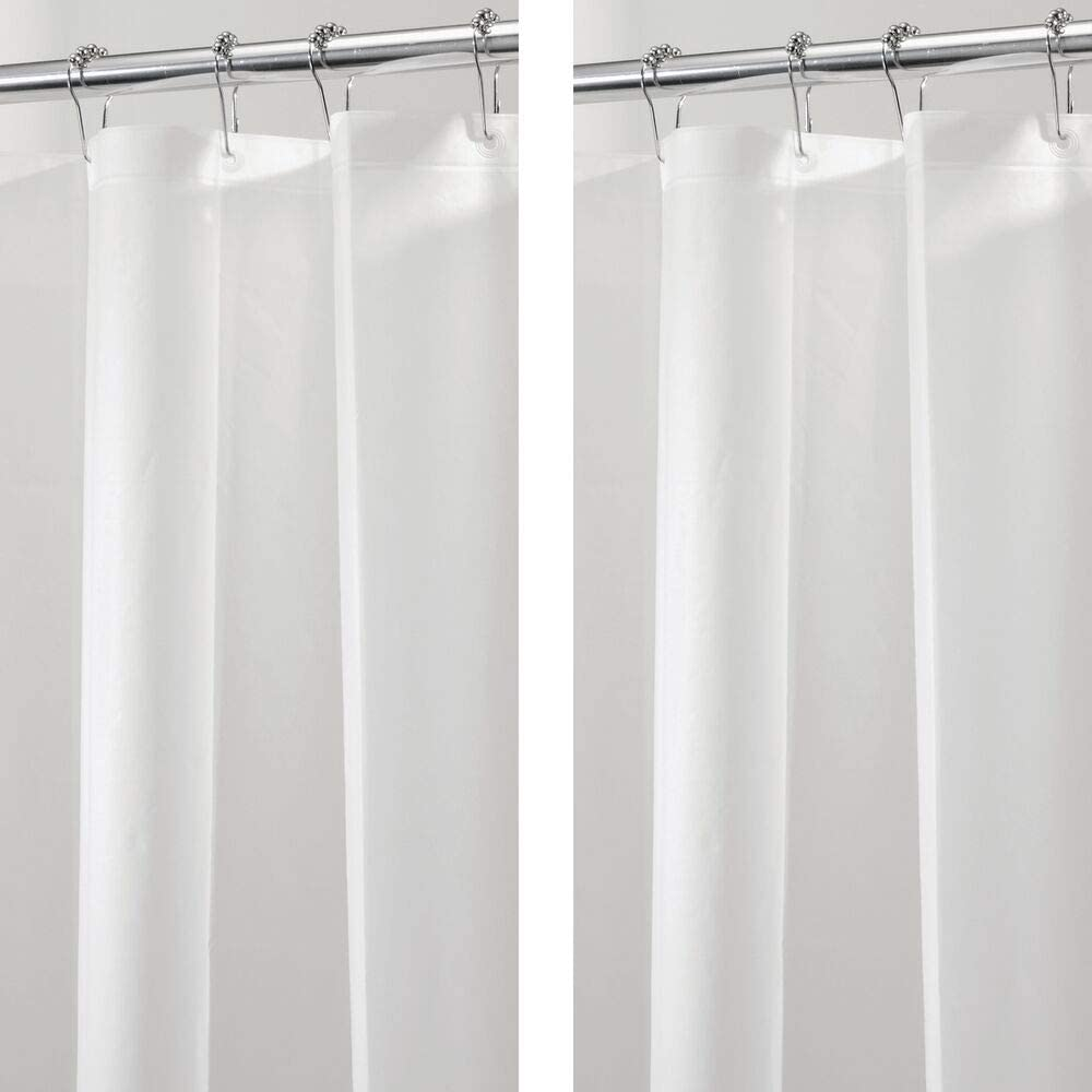 Amazon Com Mdesign Plastic Waterproof Mold Mildew Resistant Peva Shower Curtain Liner For Bathroom Showers And Bathtubs No Odor 3 Gauge 72 Inches X 72 Inches 2 Pack Frost Home Kitchen