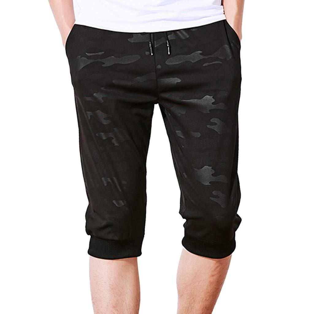 Fashion!! SFE Men Summer Shorts,Men Summer Casual Camouflage Trunks Elastic Beach Surfing Running Pants