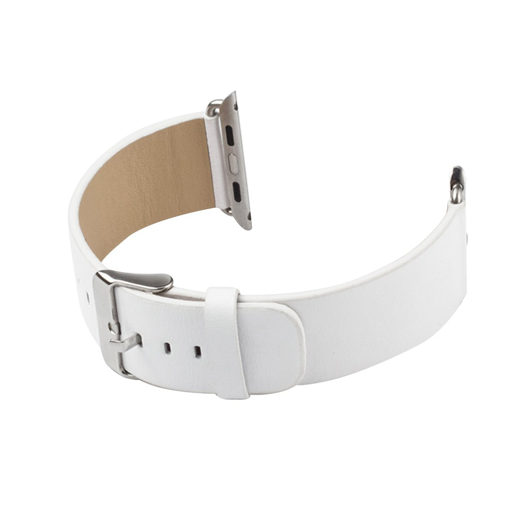 For Apple Watchストラップレザー38 /42 mm aisports Apple Watchバンド38 /42 mmレザースマート腕時計バンド交換用ストラップwithステンレススチールブレスレットClasp for 38 /42 mm iWatchスポーツエディションシリーズ3 /2 /1 For Apple Watch Strap 38MM ホワイト HQLG000145 B078136XG9 For Apple Watch Strap 38MM|ホワイト ホワイト For Apple Watch Strap 38MM
