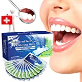 [FDA]3D Teeth Whitening Strips, Professional Effects Teeth Whitening Kit, 3D Dental Teeth Whitener, Advanced Double Elastic Gel Cleaning for Teeth Whitening Shine 28PCS (14 Upper and 14 Lower Strip