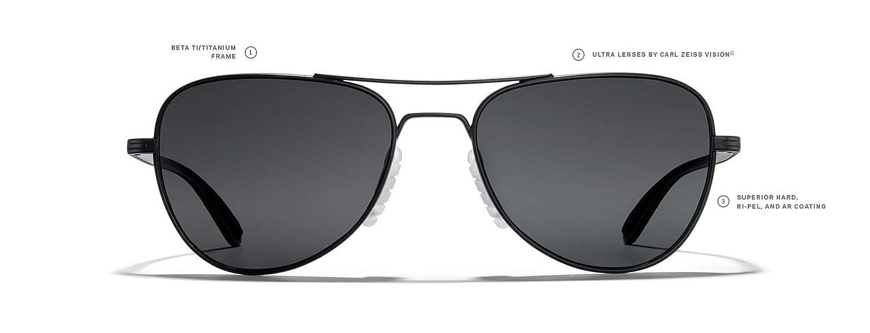 ROKA Rio Ti Performance Aviator Sunglasses for Men and Women Polarized and Non-Polarized