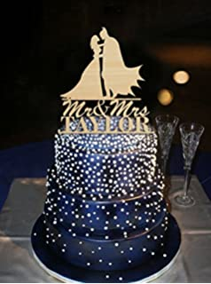 Unique Kiss Bride and Batman Design Cake Topper Acrylic Custom Name ...
