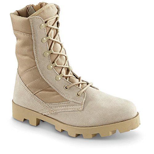 Blackrock Men's Side Zip Jungle Boots, Tan, 10.5D (Medium) ()