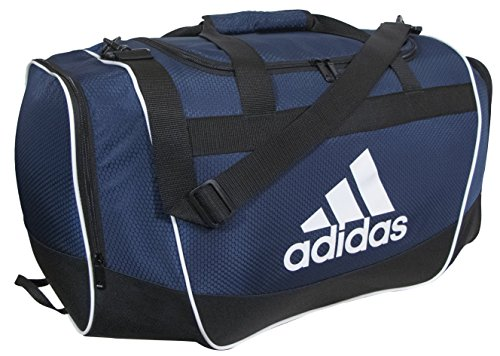 adidas Defender II Duffel Bag (Small), Collegiate Navy, 11.75 x 20.5 x 11-Inch