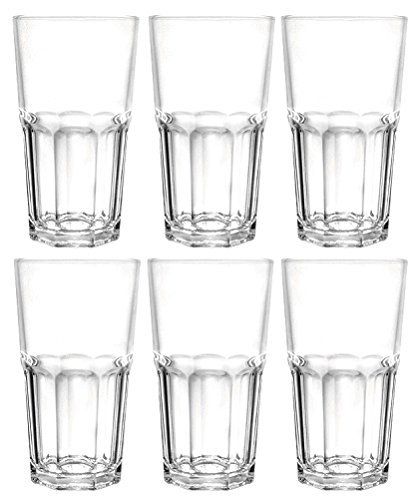 Ducati Megalite 5008 Glass Set  Glass, 315 Ml, Clear, Pack of 6  Free Shipping