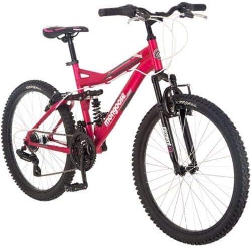 Mongoose Ledge 2.1 Bicicleta de montaña para niña, 24 Pulgadas ...
