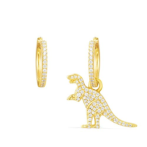 OULVNUO Dinosaur Earrings Asymmetrical Dangle Stud Earrings Cute Tiny Gold  Baby Dinosaur Ears for Womens Girl da5493e4f28b
