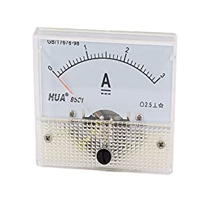 Amico clase 2.5DC 0–3A Rectangle analógica amperímetro Panel medición de metro 85C1