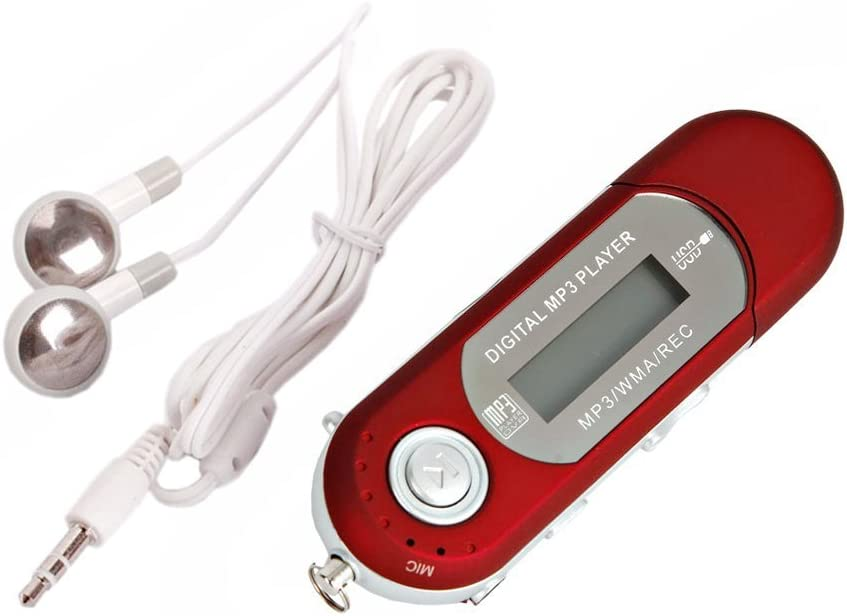 RONSHIN New 8GB Red Cute Mini MP3 Music Player USB 2.0 Flash Drive LCD Display w//FM Radio Voice Recorder