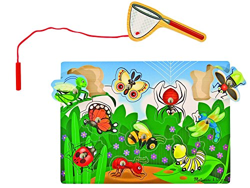 (Melissa & Doug Magnetic Wooden Bug-Catching Puzzle Game (10 pcs) )