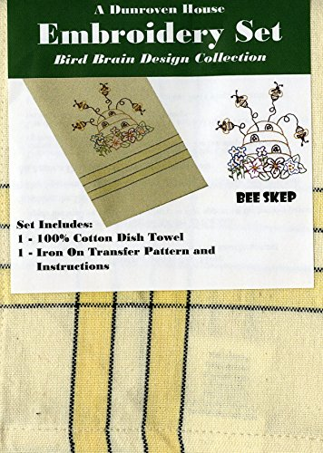 - Dunroven House 205-104 Bee Skep Bird Brain Design Collection Embroidery Set