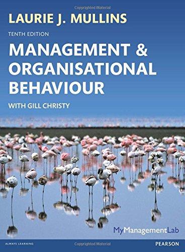 Management & Organisational Behavoiur