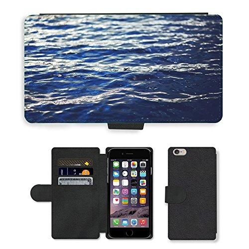 """PU Leather Cover Custodia per // M00421754 Vagues de l'eau de mer Lac Nature // Apple iPhone 6 PLUS 5.5"""""""
