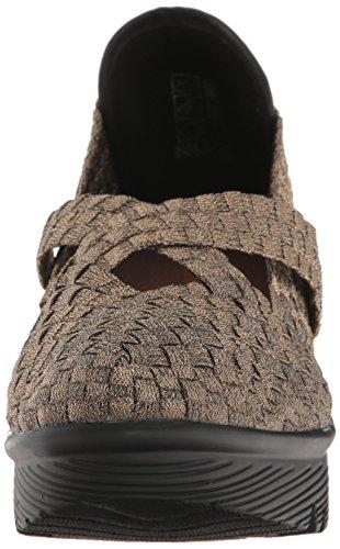 Mev para de Mujer Bronce Alto Bernie Cleopatra Zapato cuña Ux7qIYdw
