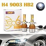 Image of H4 9003 HB2 LED Headlight Bulbs 12000LM 120W Hi/Lo Dual Beam Conversion Kit 6000K Cool White Plug & Play COB Chips Super Bright - 2 Yr Warranty (Pair)