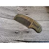 Sandalwood Beard Comb,Custom Beard Comb,Personalized Comb,Engraved comb,Hair Comb,Comb with Leather Case,Wooden Beard Comb