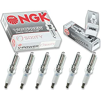 NGK V-Power 6pcs Spark Plugs Dodge Grand Caravan 01-10 3.8L 3.3L V6 Kit Set