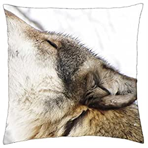 wolf howl - Throw Pillow Cover Case (18