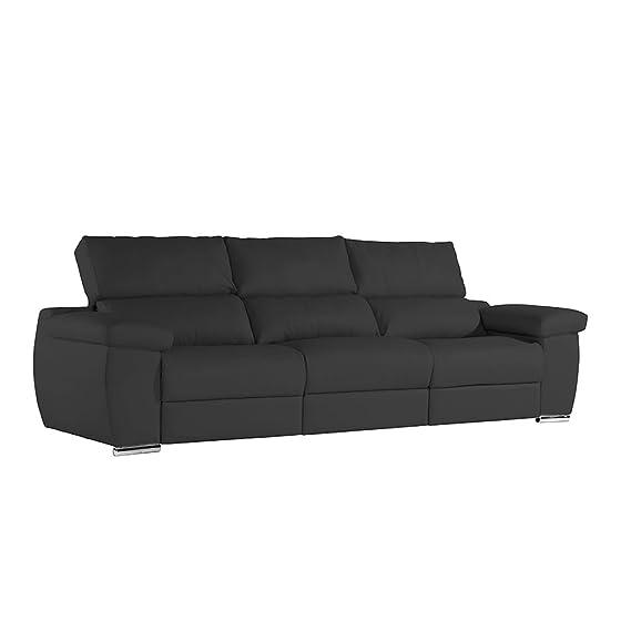 Zendo Sofas Mambo sofá módulo Relax calme-TOI, Piel, Negro ...