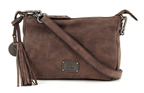 SURI FREY Romy Top Zip Bag Brown