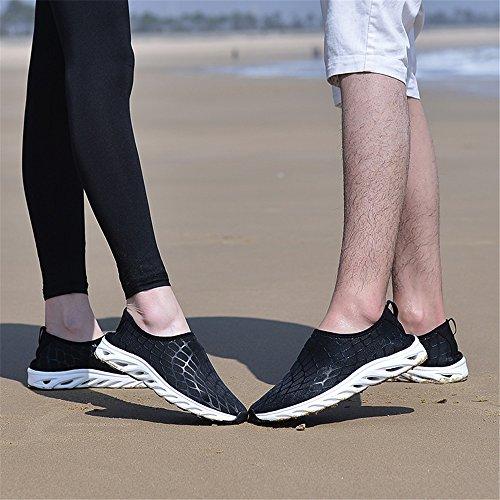 Eagsouni Femmes Séchage Rapide Aqua Eau Chaussures Glisser Sur Amélioré Sport Multifonctionnel Casual Baskets Noir Et Blanc