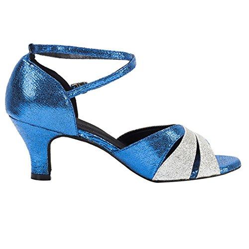 Femme HW180509 Silver Salon Danse 6cm MiyooparkUK de Heel Miyoopark Blue qRXw5UWW