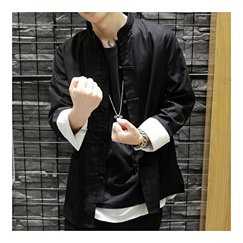 chaqueta Chaqueta Larga para Manga hombre Kangzy UqwdtWn5U