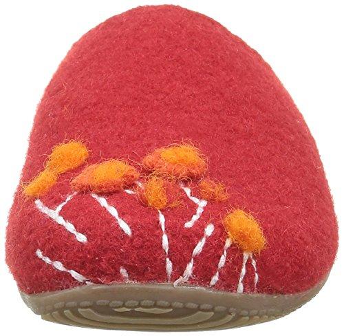 Living Kitzbühel Pantoffel Appl. Hase&luftballon - Zapatilla de estar por casa Mujer Rojo - Rot (hibiskus 353)