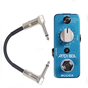 mooer pitch box harmony pitch shifting guitar effect pedal w patch cable musical. Black Bedroom Furniture Sets. Home Design Ideas