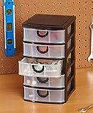 The Lakeside Collection 5-Drawer Storage Bins Black