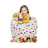 CALA Storage Bean Bag Chair - Ultimate Toy Organizer for Kids - Perfect Storage Solution for Plush Toys, Blankets, Towels & Clothes(Colours Polka Dot)