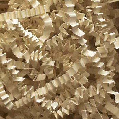 1/2 LB Crinkle Cut Paper Shred - Light Ivory