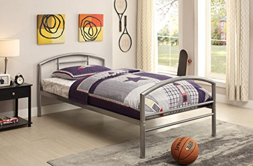 Coaster Home Furnishings 400159T Twin Bed, Silver