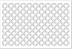 Acurio Lattice Moorish Circles Outdoor Decor Panel Screen, White, 32 x 48 x 1/4