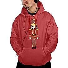 Ballet Nutcracker Men's Novelty Graphic Long Sleeve Hoodie With Cap For University Sweatshirt
