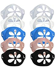 Cimaybeauty 10PCS Silicone Face Protector Holder Increases Breathing Space to Help Breathe Smoothly Face Nasal Face Protector Bracket Inner Support Frame Non-Stick Lipstick Mouth Nose Protection