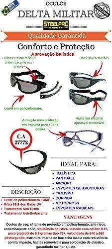 cc4bb5fcbde18 Oculos PROTEÇÃO Delta Militar Tiro Airsoft Teste Balistico C.A (ESPELHADO  (IN-OUT))  Amazon.com.br  Ferramentas e Construção