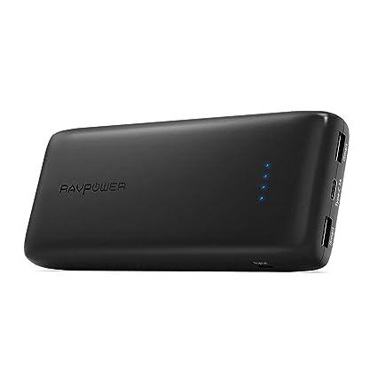 Amazon.com: Batería portátil USB C 22000 RAVPower 22000mAh ...