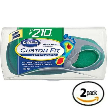 Dr. Scholl's Custom Fit Orthotics CF 210 2-Pack Shoe Sole Insole Inserts