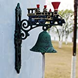 LXYFMS Wrought Iron doorbell Retro Decorative Wind Chimes Home Garden Crafts cast Iron Hand doorbell 20.8x11.5x31.3cm Cast Iron doorbell