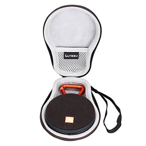 LTGEM EVA Hard Case Travel Carrying Storage Bag for JBL Clip 2 Waterproof Portable Bluetooth Speaker.Fits USB Cable and (Storage Carrying Case Bag)