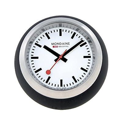 Mondaine A660.30335.16SBB Globe Black Dial Black Case - Swiss quartz movement Durable mineral crystal Case diameter:60mm - clocks, bedroom-decor, bedroom - 51i0kx8MCJL. SS400  -