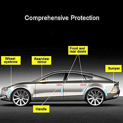 4 tiras protectoras para bordes de puertas de coche protector de parachoques Maso de goma plateada antigolpes
