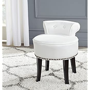 safavieh mercer collection georgia vanity stool white