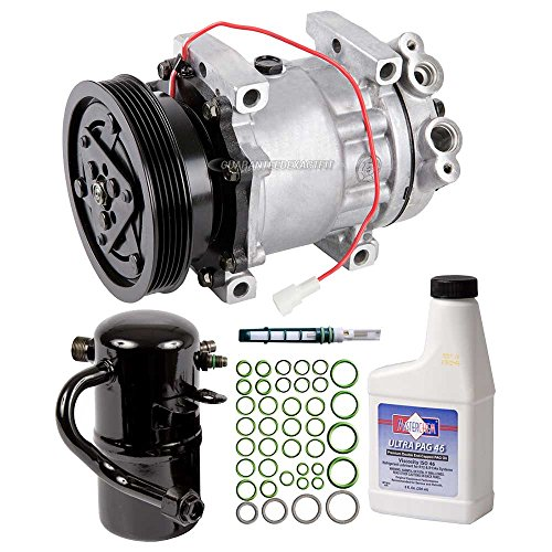 New AC Compressor & Clutch With Complete A/C Repair Kit For Mazda 626 2.0L - BuyAutoParts 60-80266RK New (626 Compressor A/c Mazda)