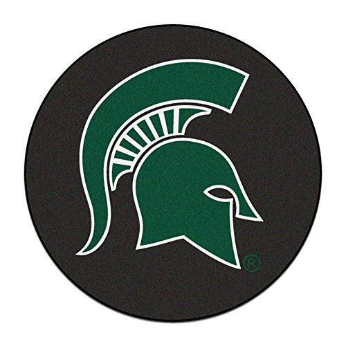NCAA Michigan State University Spartans Puck Mat Round Area Rug