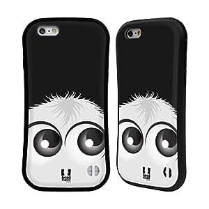 Head Case Designs White Fuzzballs Hybrid Case for Apple iPhone 5 / 5s / SE