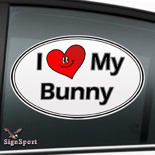 "I Love My Bunny 6"" Decal Sticker"